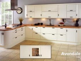 Avondale - Traditional Vinyl Wrapped Door - Ivory