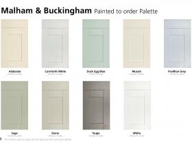 Malham & Buckingham Painted to order Palette