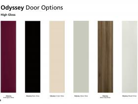 Odyssey Bedroom Door Options