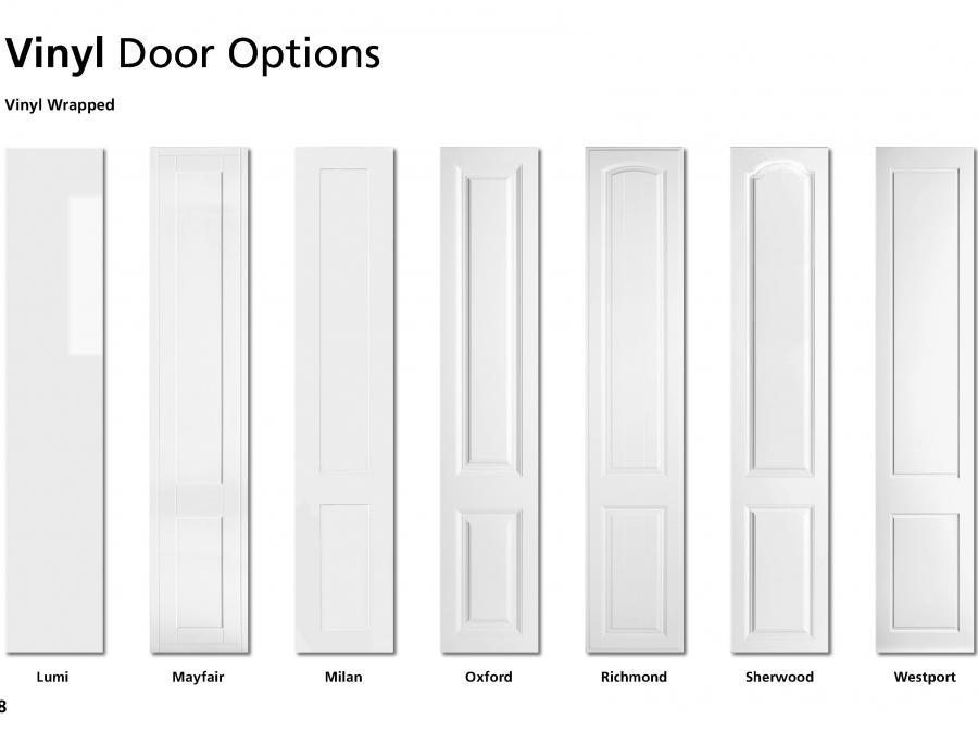Vinyl Wrapped Bedroom Door Options