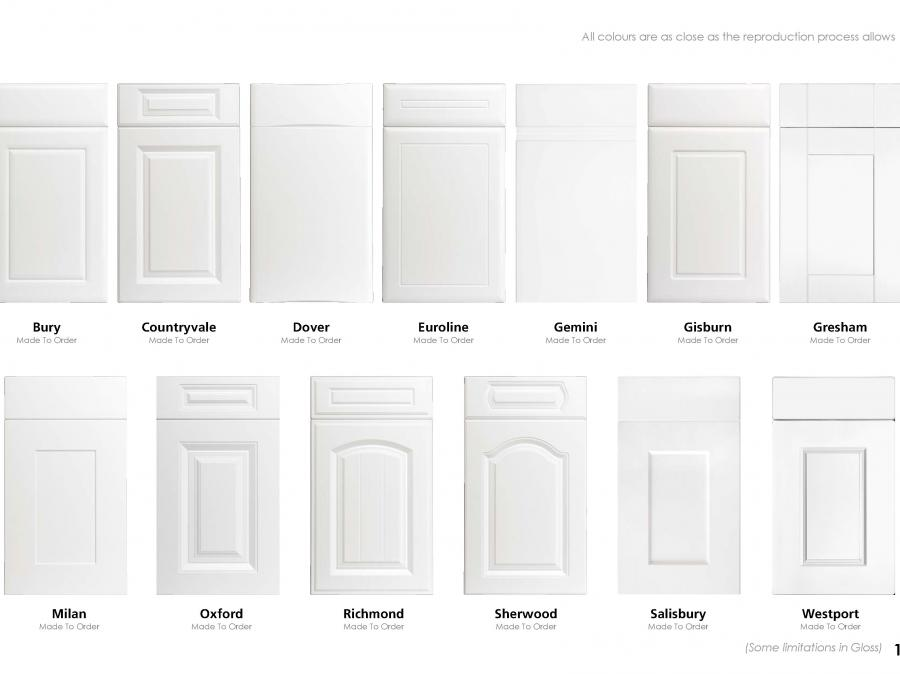 Made To Order Door Options (2 of 2)