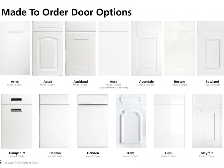 Made To Order Door Options (1 of 2)