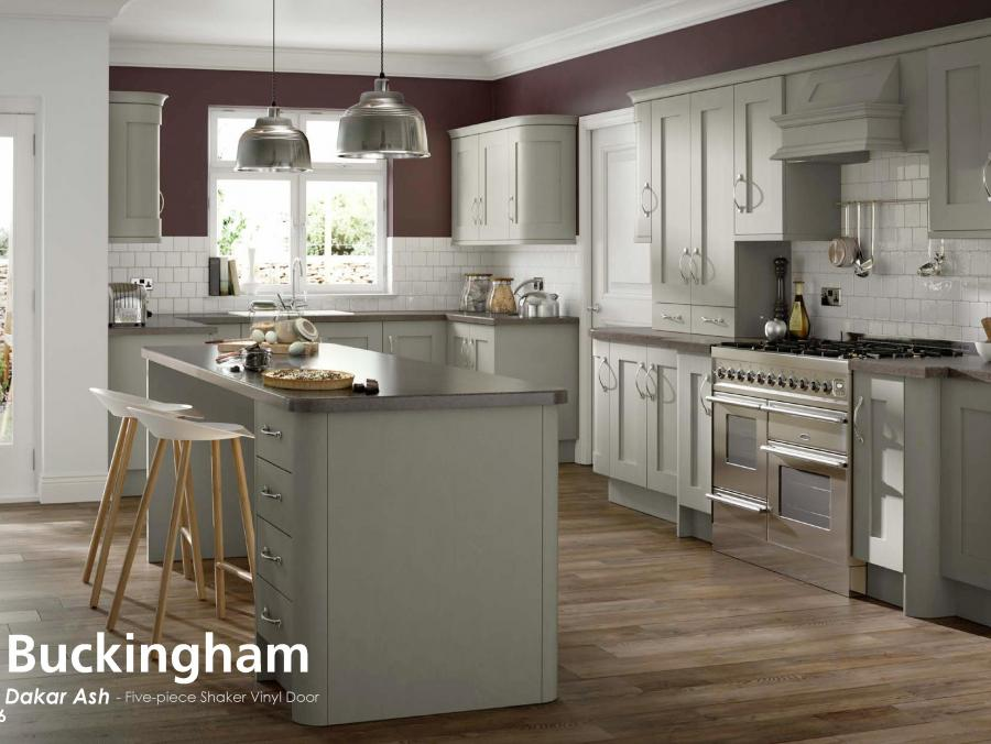 Buckingham - Dakar Ash - Five-piece Shaker Vinyl Door