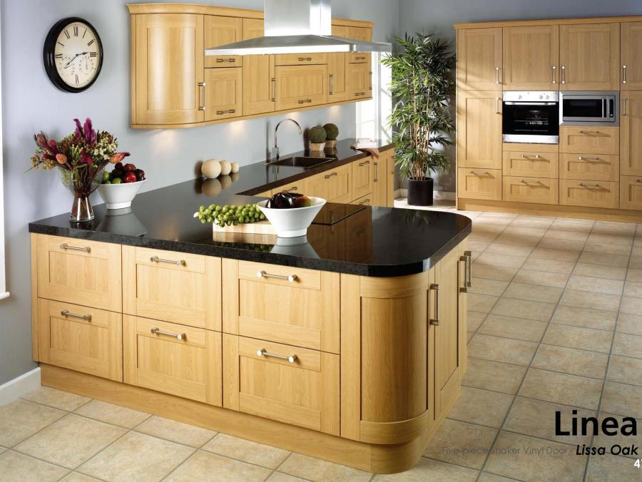 Linea - Five-piece Shaker Vinyl Door - Lissa Oak