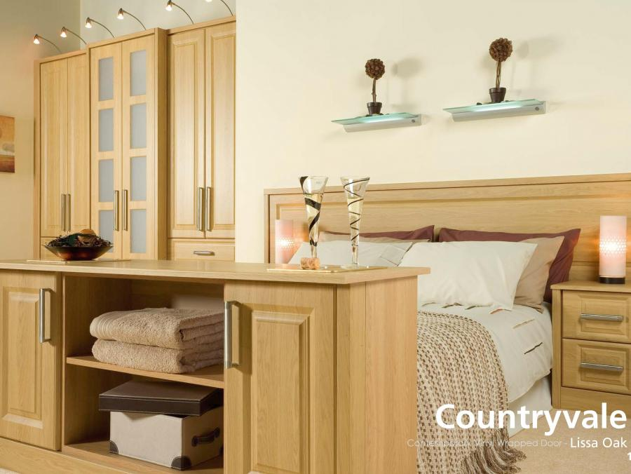 Countryvale - Contemporary Vinyl Wrapped Door - Lissa Oak
