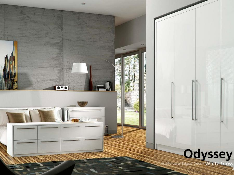 Odyssey - Acrylic Laser Edged Door - White Gloss