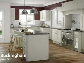Buckingham - Mussel Ash - Five-piece Shaker Vinyl Door