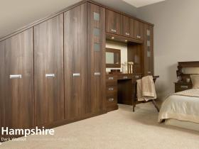 Hampshire - Dark Walnut - Contemporary Vinyl Wrapped Door