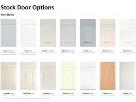 Stock Door Options - Vinyl Doors