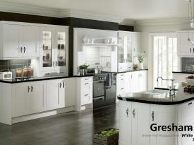 Gresham - Shaker Vinyl Wrapped Door - White