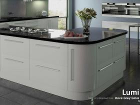 Lumi - Gloss Vinyl Wrapped Door - Dove Grey Gloss