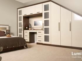 Lumi - Contemporary Gloss Door - Cream Gloss