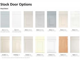 Stock Door Options - Vinyl Doors