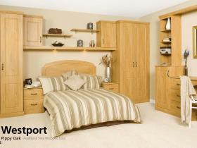 Westport - Pippy Oak - Traditional Vinyl Wrapped Door